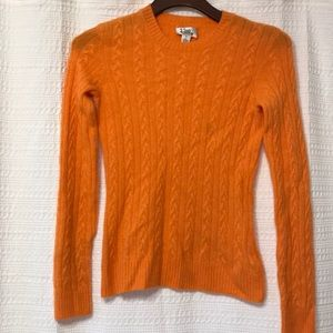 Lilly Pulitzer Orange 100% Cashmere Cable Sweater